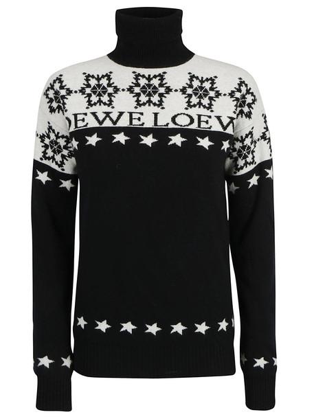 Loewe Snowflake Turtleneck in black / white