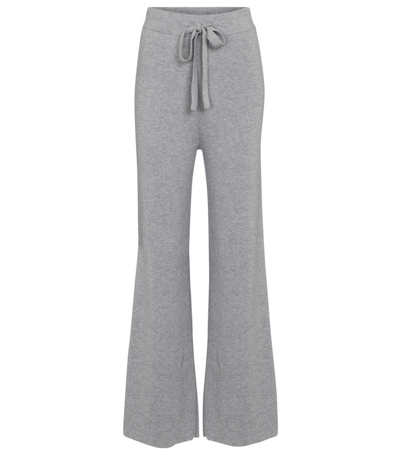 Live The Process Exclusive to Mytheresa – Ribbed-knit cashmere-blend pants in grey