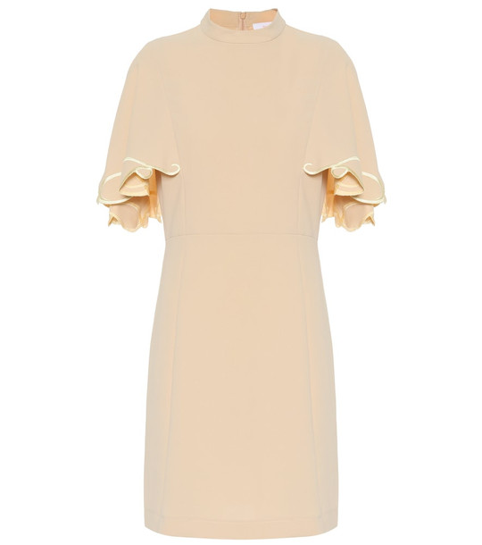 See By Chloé Embroidered crêpe dress in beige