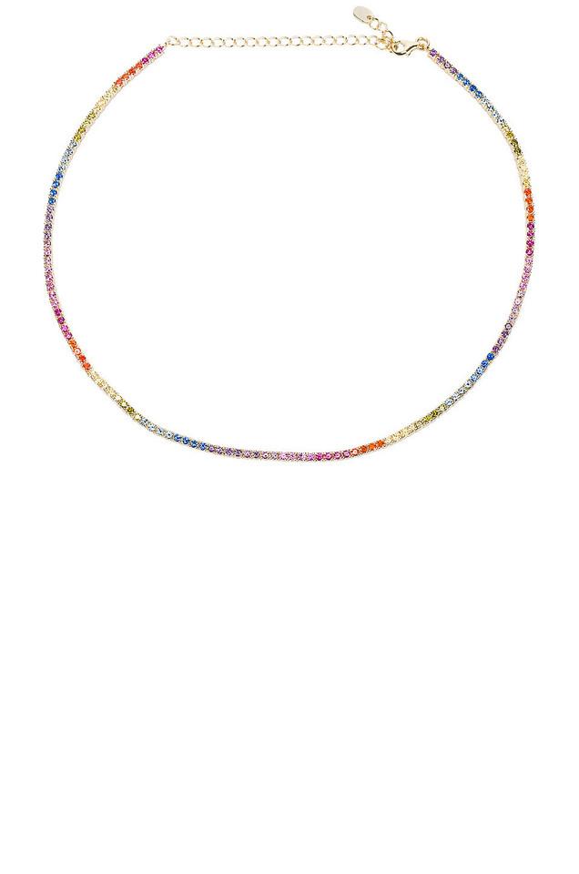 The M Jewelers NY Rainbow Chain Choker in gold / metallic