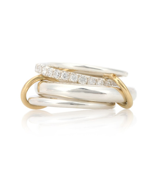 Spinelli Kilcollin Luna SG sterling silver and 18kt gold rings with diamonds