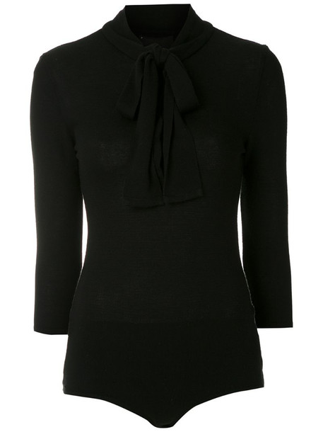 Andrea Bogosian Renne lace-up knitted body in black