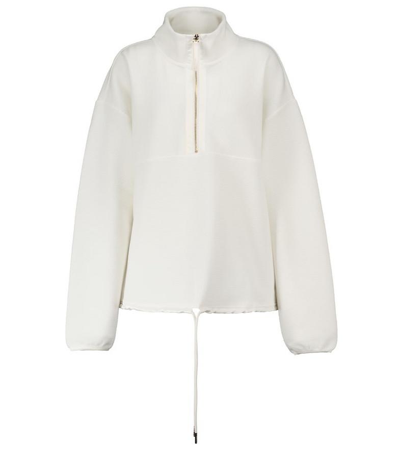 VARLEY Harding ribbed jersey sweatshirt in white