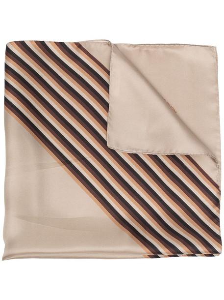 Acne Studios square striped scarf in neutrals