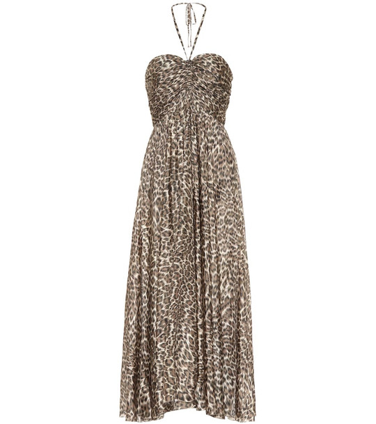 Zimmermann Suraya printed silk maxi dress in beige