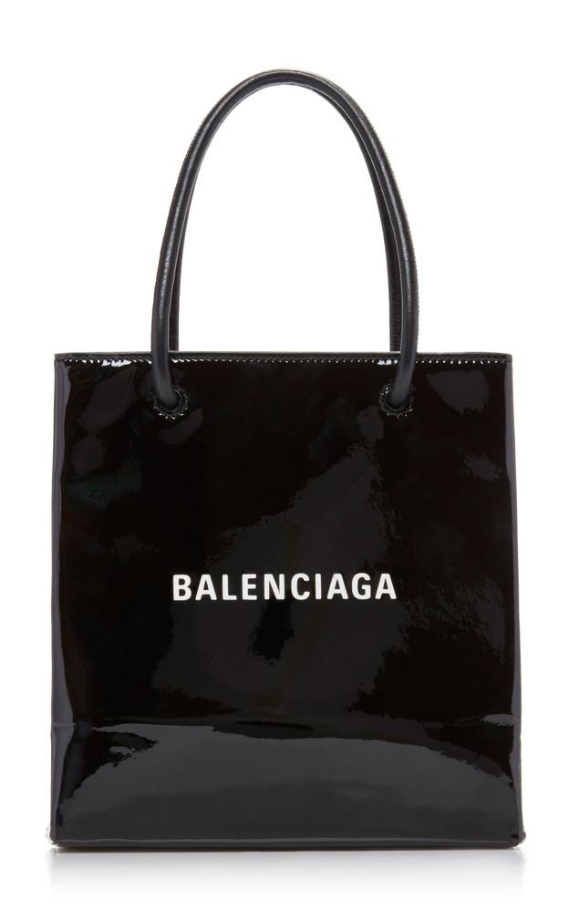 Balenciaga Patent Leather XXS Shopper Tote in black
