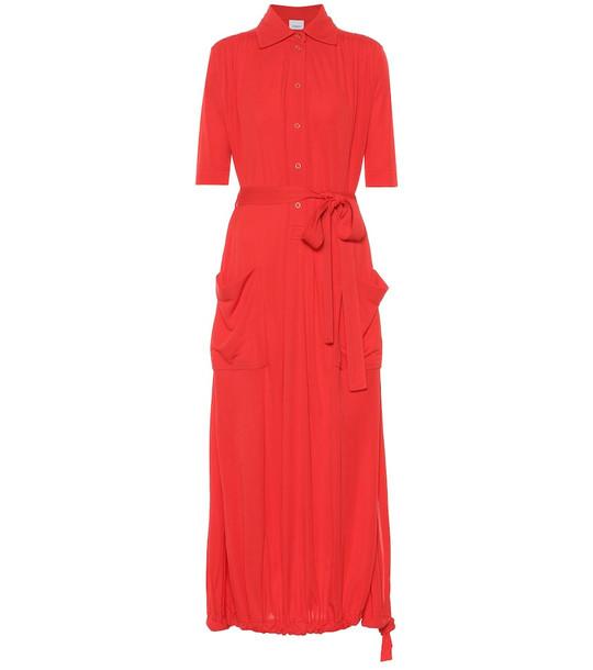 Burberry Crêpe shirt dress in red