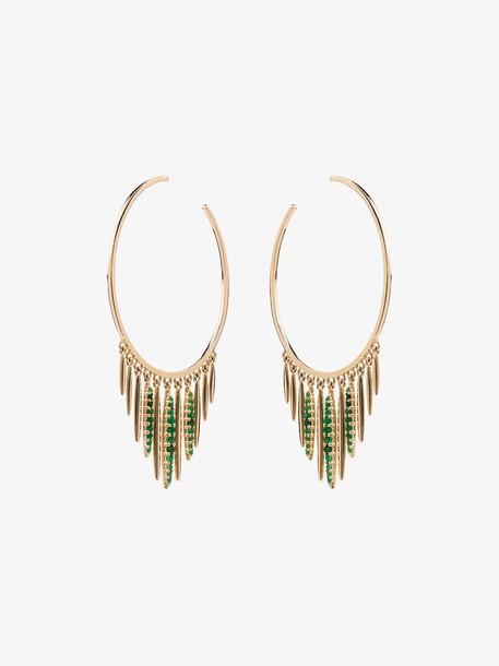 Ileana Makri Grass Sunset hoop earrings in metallic