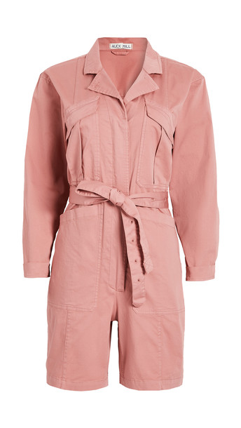 Alex Mill Expedition Shorts Jumpsuit in rose