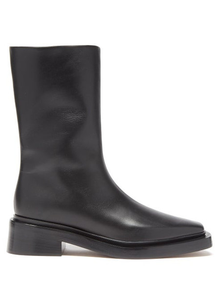 Neous - Bosona Zipped Leather Boots - Womens - Black
