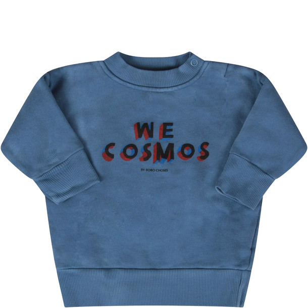 Bobo Choses Light Blue we Cosmos Baby Boy Sweatshirt