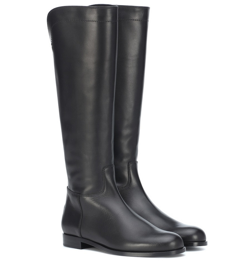 Loro Piana Welly leather boots in black
