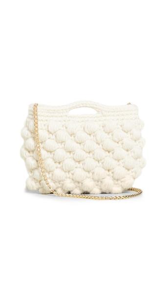 Caterina Bertini Woven Crossbody Bag in white