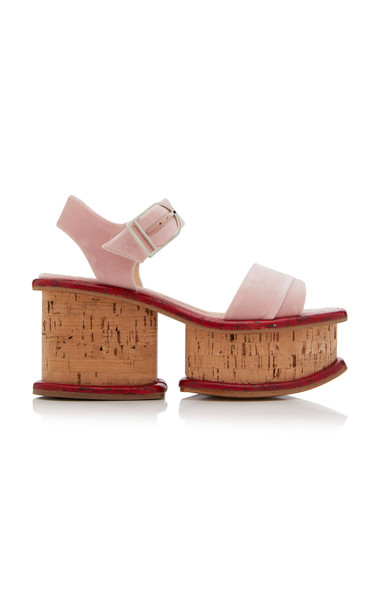 Gabriela Hearst Harrigan Platform Sandals in pink