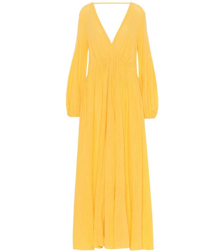 Kalita Exclusive to Mytheresa – Aphrodite cotton maxi dress in yellow
