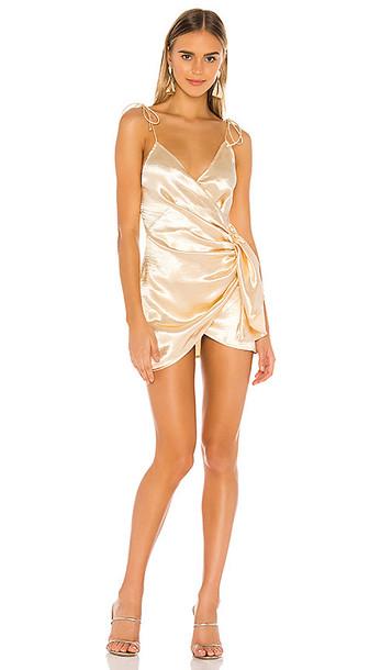 superdown Lennie Wrap Dress in Taupe