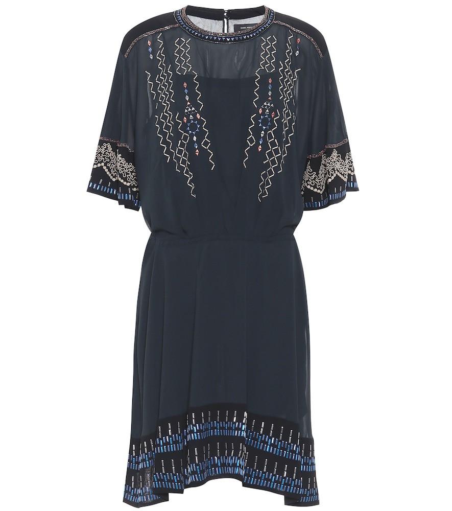 Isabel Marant Camelia silk-crêpe dress in black