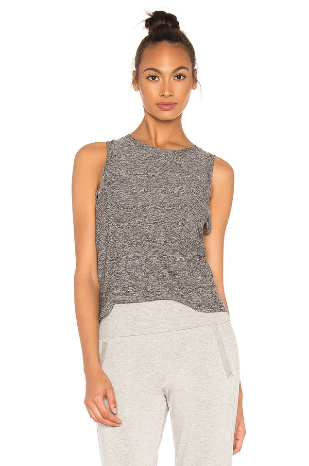 Beyond Yoga Knot So Fast Cropped Tank in black