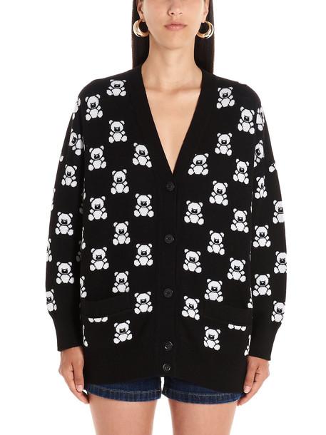 Moschino teddy Cardigan in black / white