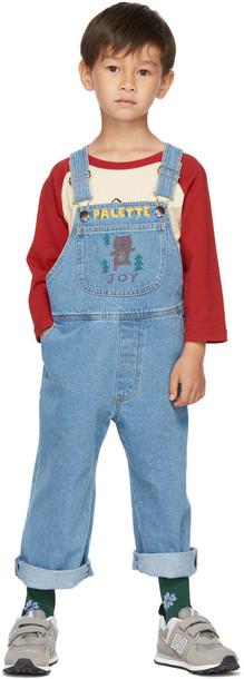 Jellymallow Kids Blue Denim 'Palette' Bear Overalls