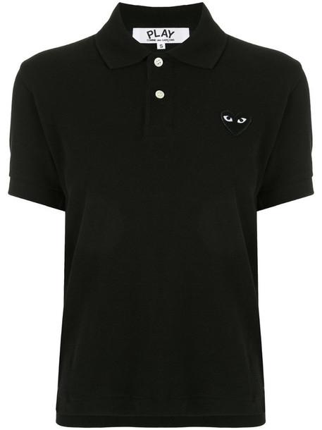 Comme Des Garçons Play logo-patch polo shirt in black