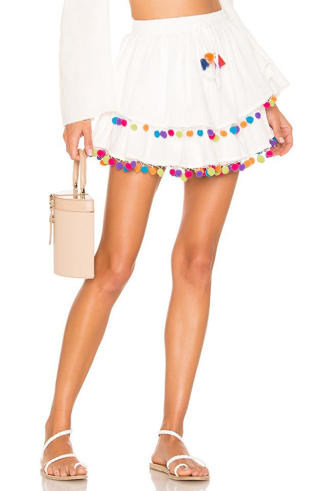 MAJORELLE Calypso Skirt in white