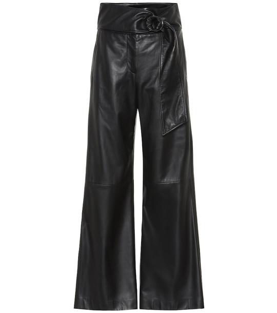 Brunello Cucinelli Leather pants in black