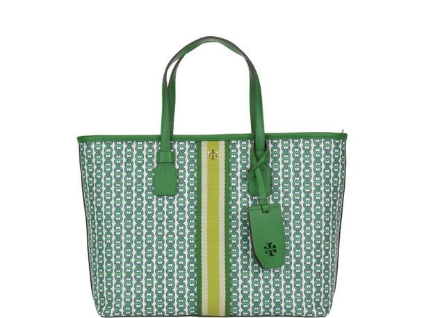 Tory Burch Gemini Link Small Tote Bag in green