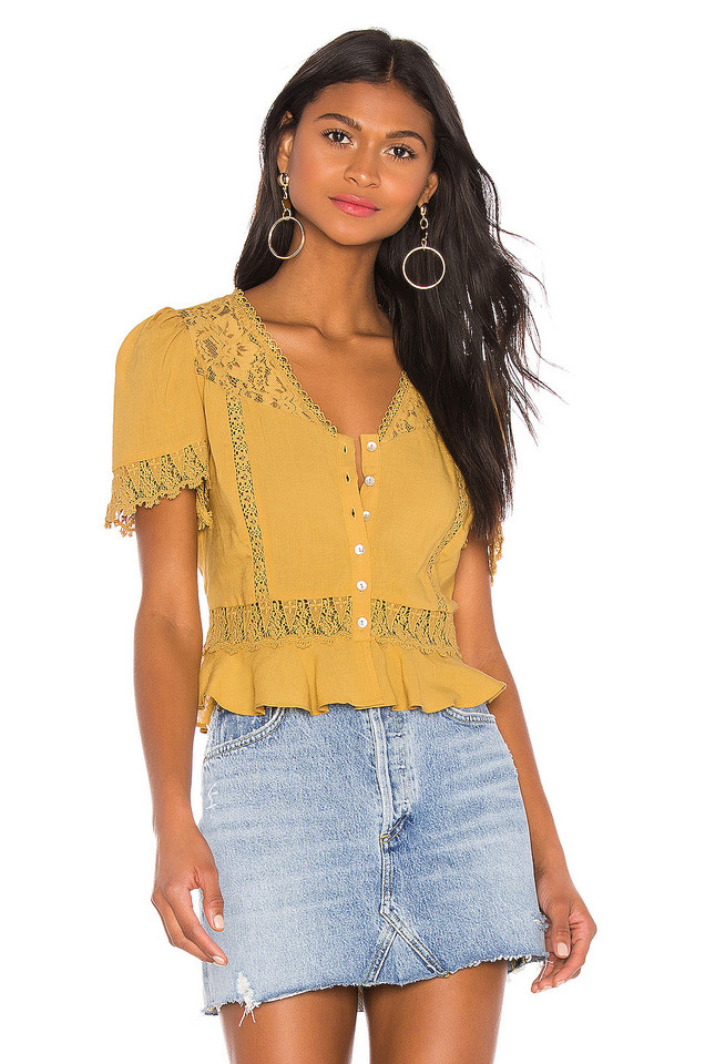 HEARTLOOM Nola Blouse in yellow