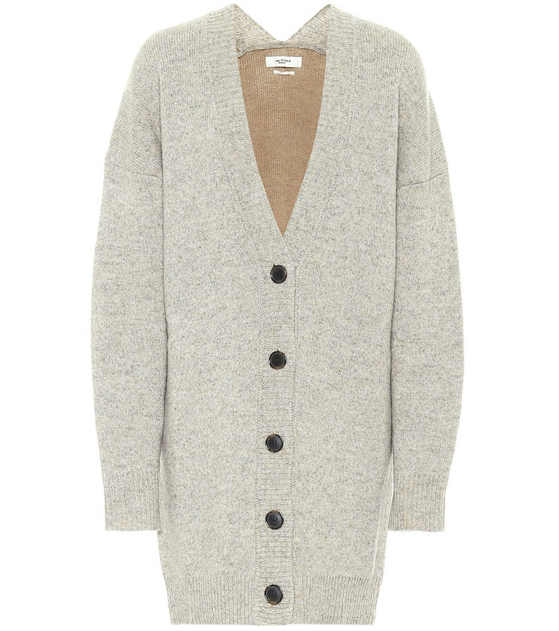 Isabel Marant, Étoile Moana wool-blend oversized cardigan in neutrals
