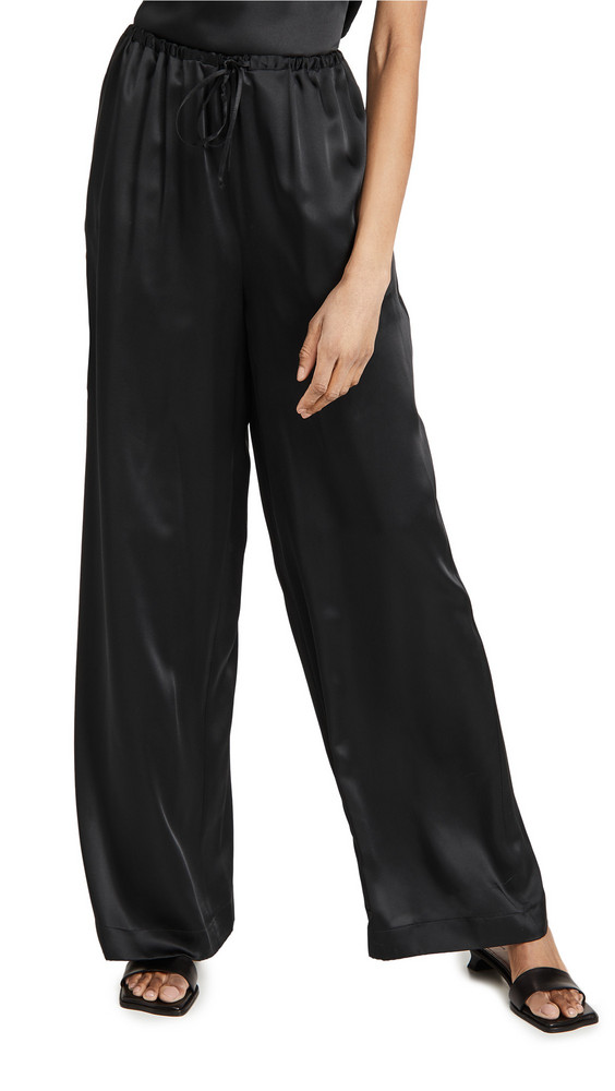 Rosetta Getty Drawstring Straight Leg Pants in black
