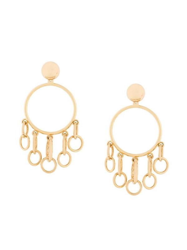 Eshvi jumping charm hoop earrings in yellow