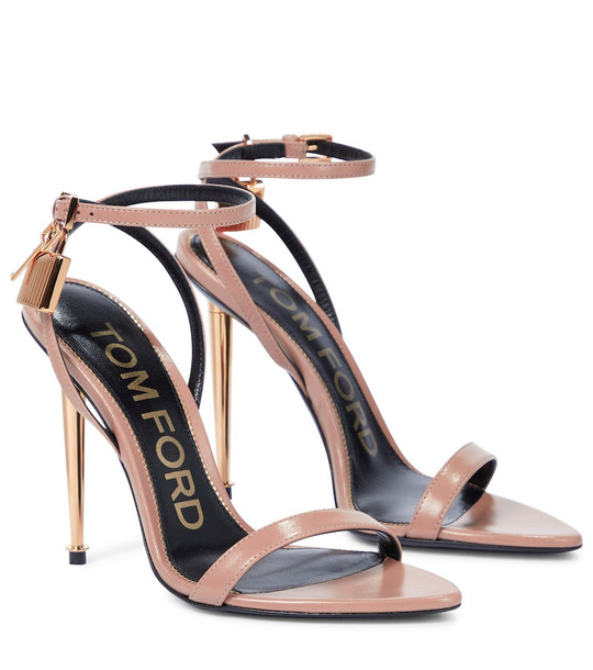 Tom Ford Padlock leather sandals in pink