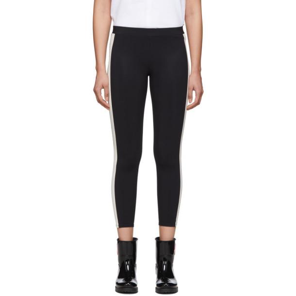 Moncler Black and White Side Stripe Leggings