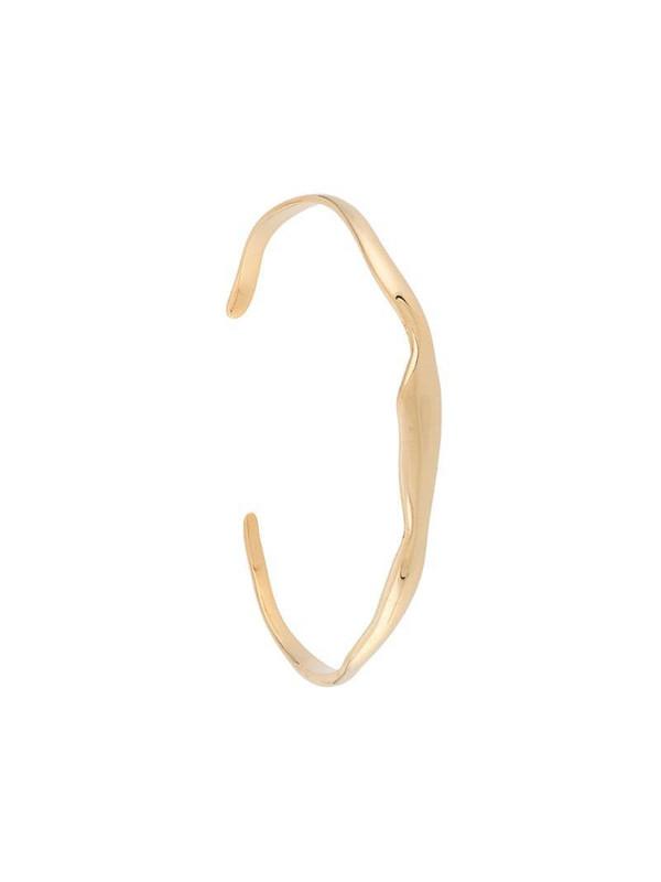 BAR JEWELLERY wide Ripple cuff bracelet in gold