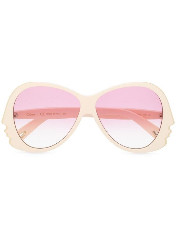 Chloé Eyewear face shape sunglasses in neutrals