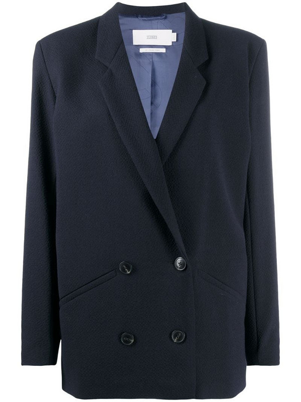 Closed double-breasted blazer in blue