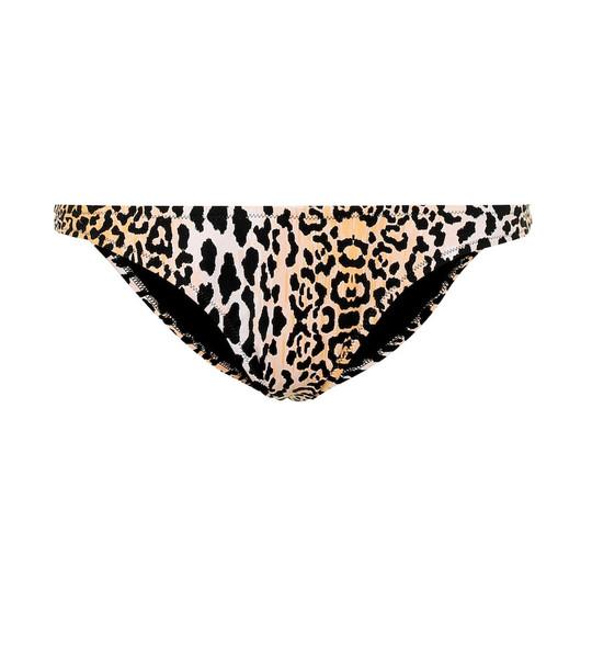 Reina Olga Selvaggia printed bikini bottoms in brown