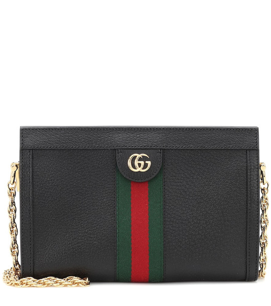 Gucci Ophidia Small leather shoulder bag in black
