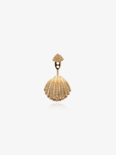 Yvonne Léon shell 18K gold diamond earring