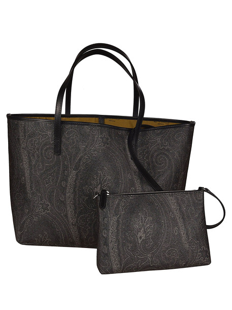 Etro Shopping Book Paisley Tote in nero