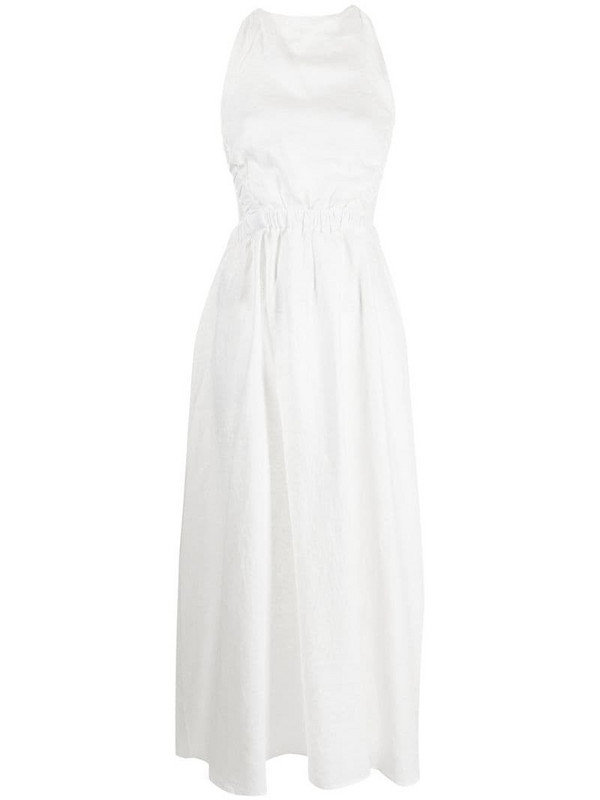 Sir. Alena linen maxi dress in white