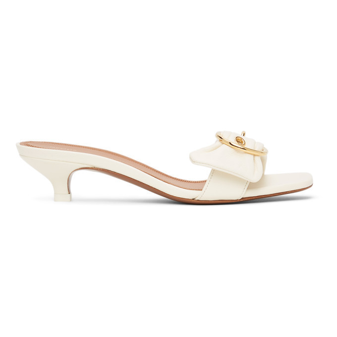 NEOUS Off-White Leather Heze Mules in cream