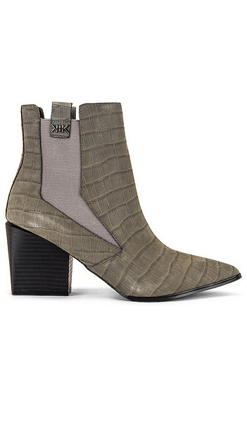 KENDALL + KYLIE KENDALL + KYLIE Finigan Croco Embossed Bootie in Grey