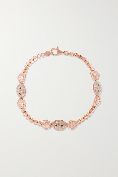 Lorraine Schwartz - 18-karat Rose Gold Diamond Bracelet