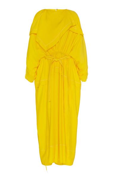 Proenza Schouler Cinched Bandana-Neck Maxi Dress Size: 2 in orange