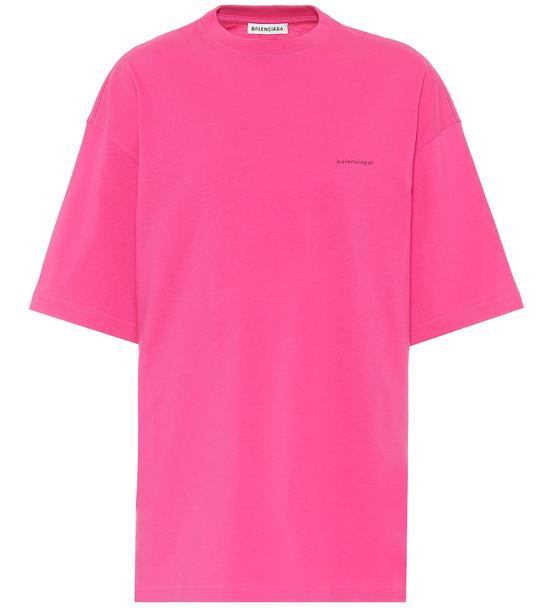 Balenciaga Copyright cotton T-shirt in pink
