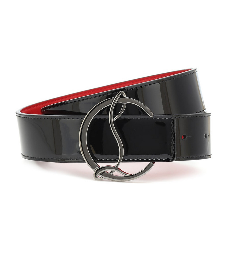 Christian Louboutin CL Logo reversible leather belt in black