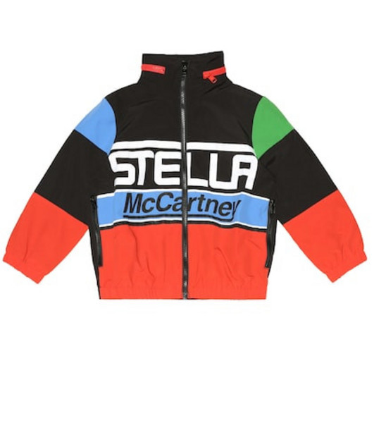 Stella McCartney Kids Technical hooded jacket