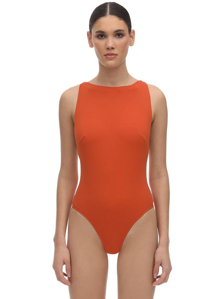 BONDI BORN Anais Lycra One Piece Swimsuit in orange